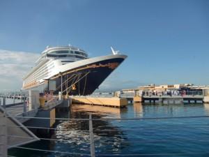 Disney Fantasy's first visit to Pier 3 in Old San Juan in November 2012. (Credit: www.facebook.com/disneyfantasy)