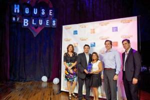 The Nagnoi team receives the award in Texas.