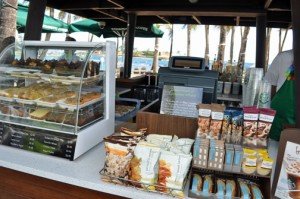 Starbucks sells its iconic drinks and pastries beachside at the Caribe Hilton hotel in San Juan.