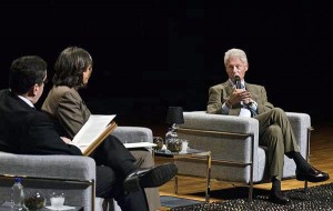 Clinton responds during a question and answer session with Economist Sergio Marxuach, public policy director of the Center for a New Economy and Carmen Guerrero, Secretary of the Department of Natural and Environmental Resources. (Credit: © Mauricio Pascual)