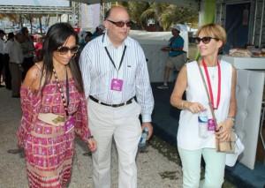 From left: Lorena Holguin, marketing director MasterCard for LatAm, Manuel Catedral, manager of MasterCard Puerto Rico,and PRHTA President Clarisa Jimenez.
