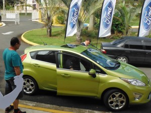 Among other features, the Ford Fiesta offers up to 40 miles per gallon.