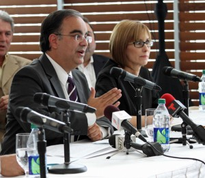 From left: PRHTA Executives Ismael Vega and Clarissa Jiménez