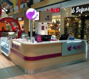 Open Mobile unveiled the addition of 10 new kiosks in malls throughout the island.