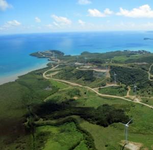 Naguabo's 13-turbine Punta Lima Aeolic park. (Credit: Víctor Román)