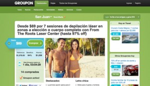 "Groupon launched its ""group coupon"" offers in Puerto Rico in 2011."