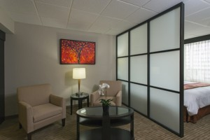 """The 33 rooms and corridors were renovated using a blend of warm colors, with a contrast of textures and materials that are identified """"with the rhythm and flavor of Puerto Rico."""""""