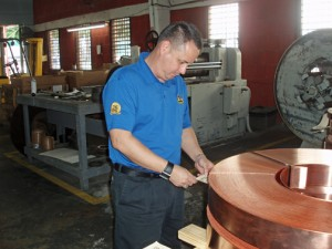 Abimael Padilla, general manager of Challenger Brass & Copper Inc.