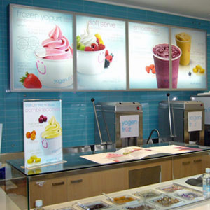 Yogen Früz is a Canadian concept that features as many as 40 yogurt flavors that change weekly.