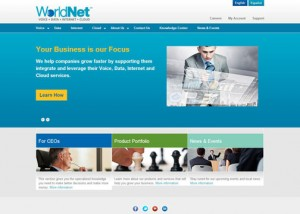 WorldNet's new website will be updated on a regular basis with the latest news, corporate events and business summaries, the company said.