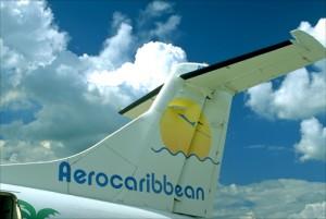 Aerocaribbean ATR-42 aircraft prepares for takeoff in Santiago de Cuba. (Credit: Larry Luxner)