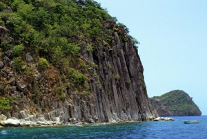 Cliffs of Basse-Terre, Guadeloupe. (Credit: Larry Luxner)