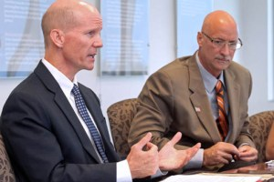 From left: Toyota Executives Brett Beals and George Cristoff.