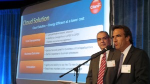 From left: Neptune Networks Chief Technology Officer, Eliut Rodríguez and Luis Felgueras, director of Claro Empresas.