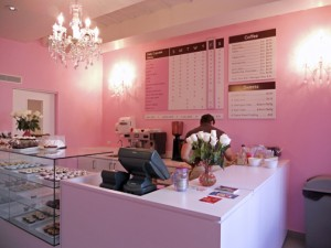 The color scheme at Vanilla Bean Cupcakery stores reflects its owner's love of pink. (Credit: Lorraine Blasor)