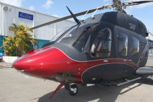 The helicopter features two Pratt & Whitney high performance engines, retractable landing gear, and a spacious cabin with the most advanced technology in flight safety systems.