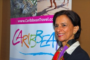Sarah Wescot-Williams, prime minister of St. Maarten (Credit: Larry Luxner)
