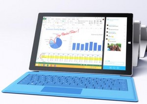 The Surface Pro 3 combines laptop and tablet features in a single device.