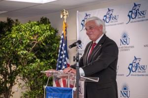 Nova Southeastern University President George L. Hanbury