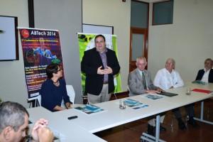 From left: Patricia Ortiz-Bermúdez, associate coordinator of BIOTEC; (standing) Carlos Ríos Velázquez; John Fernández-Van Cleve; and Alejandro Ruiz, program director and former RUM rector.