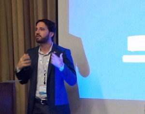 Puerto Rico's CIO Giancarlo González during his presentation in San Francisco.