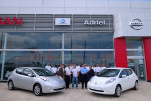 The first two Nissan LEAF vehicles were sold recently in Puerto Rico.