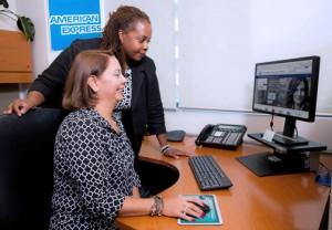 American Express executives Sonia Rodríguez and Susan Chapman.
