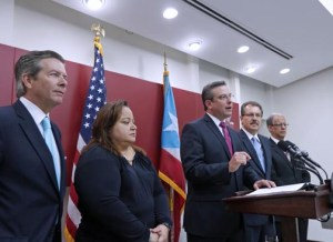 From left: David Chafey, Melba Acosta, Gov. García-Padilla, Juan Zaragoza and Luis Cruz.