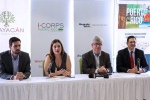 From left: executive director of the Puerto Rico Science, Technology and Research Trust,Laura Cantero, executive director of Grupo Guayacán, Keith McGreggor of Georgia Tech's VentureLab and Puerto Rico Industrial Company Executive Director Antonio Medina-Comas.