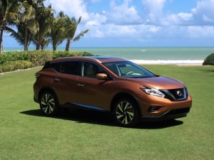The 2015 Nissan Murano is offered in four grade levels: S, SV, SL and Platinum. Each is available in front-wheel drive or all-wheel drive.