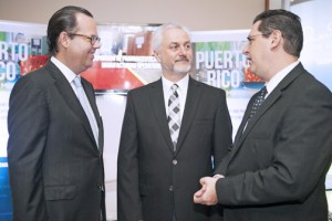 From left: Nicholas Prouty, CEO of Putnam Bridge Investments, Phil Schneider, chairman of the Site Selectors Guild, and Antonio L. Medina-Comas, executive director of the Puerto Rico Industrial Development Company.