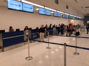 United offers non-stop flights from LMM Airport to its principal hubs in the U.S. mainland.