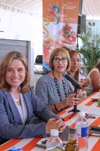 "From left: San Juan Mayor Carmen ""Yulín"" Cruz, PRHTA President Clarisa Jiménez and Maritere Colón, legal advisor at the Puerto Rico Tourism Company."