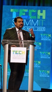 TRB President Javier Rúa-Jovet speaks during Wednesday's Puerto Rico Tech Summit event. (Credit: Joe Colón)