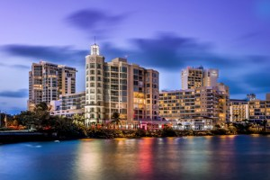 Overlooking the Atlantic Ocean and Condado Lagoon, and situated at the crossroads of Condado, Miramar, Old San Juan, and the Puerto Rico Convention Center districts, Paseo Caribe is a one million square foot luxury mixed-use development.