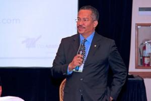 Félix Laboy Vázquez, president of Vibra, speaks during a recent presentation.