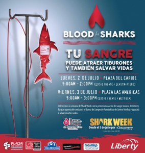 The event celebrates Shark Week's 28th annual edition, airing this month on Discovery Channel.