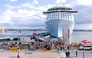 The Anthem of the Seas anchored in San Juan for the first time Nov. 13, kicking off the high tourism season.