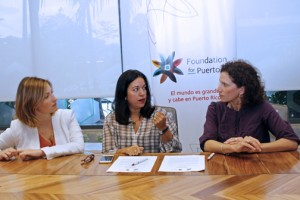 From left: Giselle Nevares, program manager for the Foundation for Puerto Rico, Terestella González-Denton, and María Jaunarena.