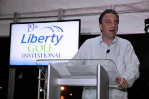 Liberty President Naji Khoury announces this year's benefitted nonprofits.