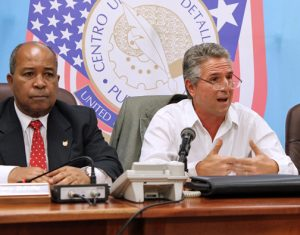 From left: Rubén Piñero and Josen Rossi, during a morning news conference.