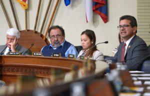 From left: Commitee Chair Rob Bishop, Congressman Raúl Grijalva and Resident Commissioner Pedro Pierluisi.