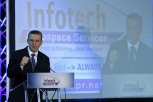 Gov. García-Padilla participates in Monday's announcement of an expansion by Infotech Aerospace Services.