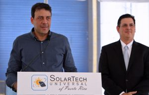 Acting Gov. Víctor Suárez and PRIDCO Executive Director Antonio Medina participate in Thursday's groundbreaking ceremony.