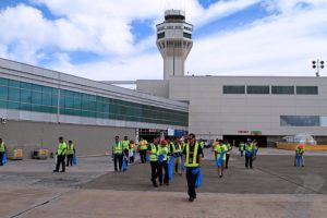 The garbage or debris found on the runway and ramps can cause damage to airplanes' wheels and possibly their engines, as well as harm persons in case objects are expelled.
