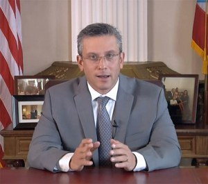 Gov. Alejandro García-Padilla delivered a televised speech Thursday on the government's actions related to the fiscal oversight board.