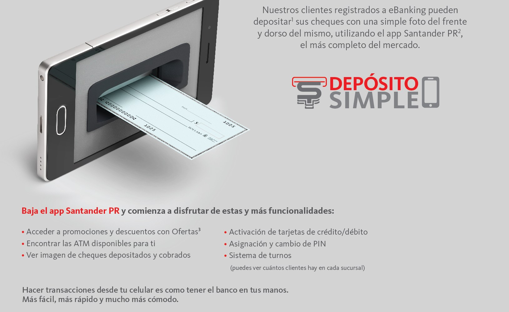 Santander launches 'Depósito Simple' mobile check deposit