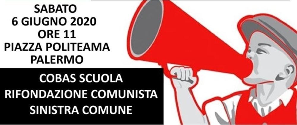 Cobas Scuola in piazza a Palermo sabato 6 giugno