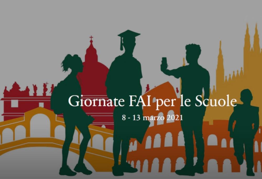 Giornate FAI per le scuole 2021 del Fondo Ambiente Italiano: 8 – 13 marzo