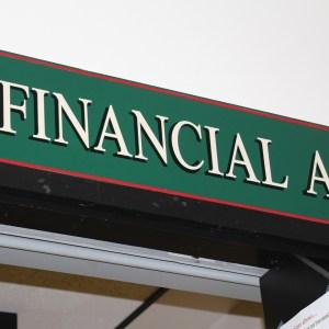 finacial aid sign